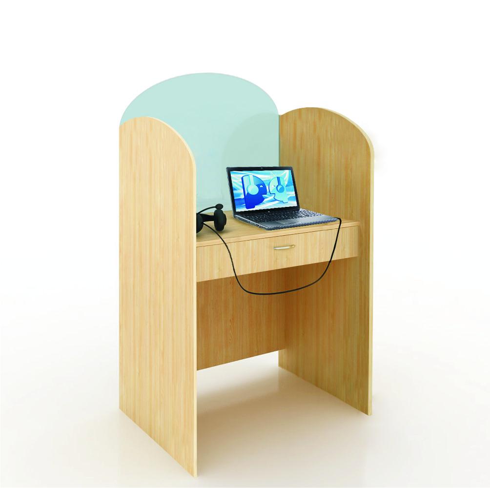 """Компьютерный лингафонный кабинет """"Норд К-3"""". Рабочее место ученика."""