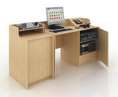 """Лингафонный кабинет с элементами мультимедиа """"Норд Сэм-1"""", Норд Сэм-3"""". Рабочее место преподавателя."""